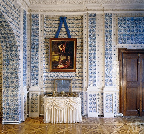 tiled room in the Menshikov Palace