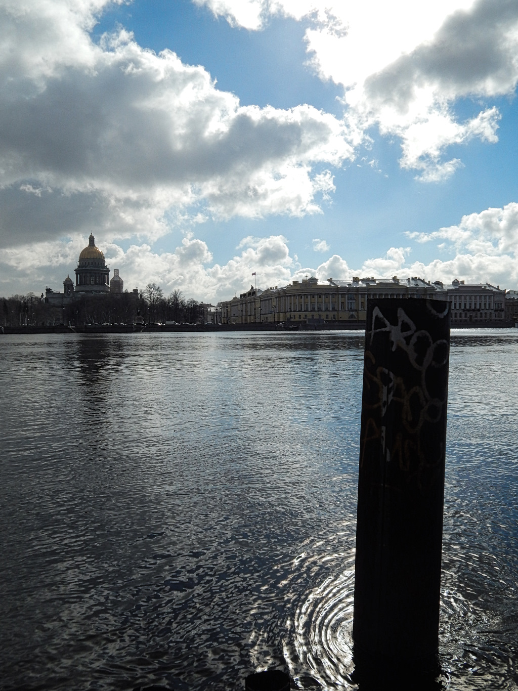 view of main river and St Isaac's Cathedral, St Petersburg